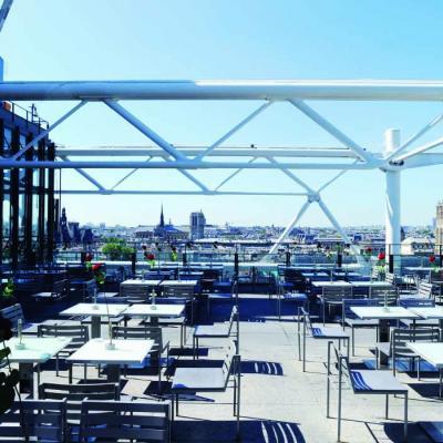 Georges, la terrasse sur le toit du Centre Pompidou
