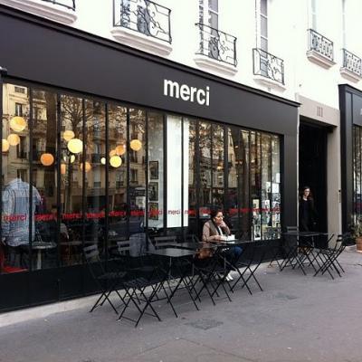 Le Cinéma Café, la terrasse du concept store Merci