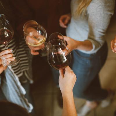 Wine degustation with