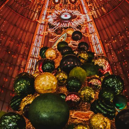 The Christmas Magic at the Galeries Lafayette